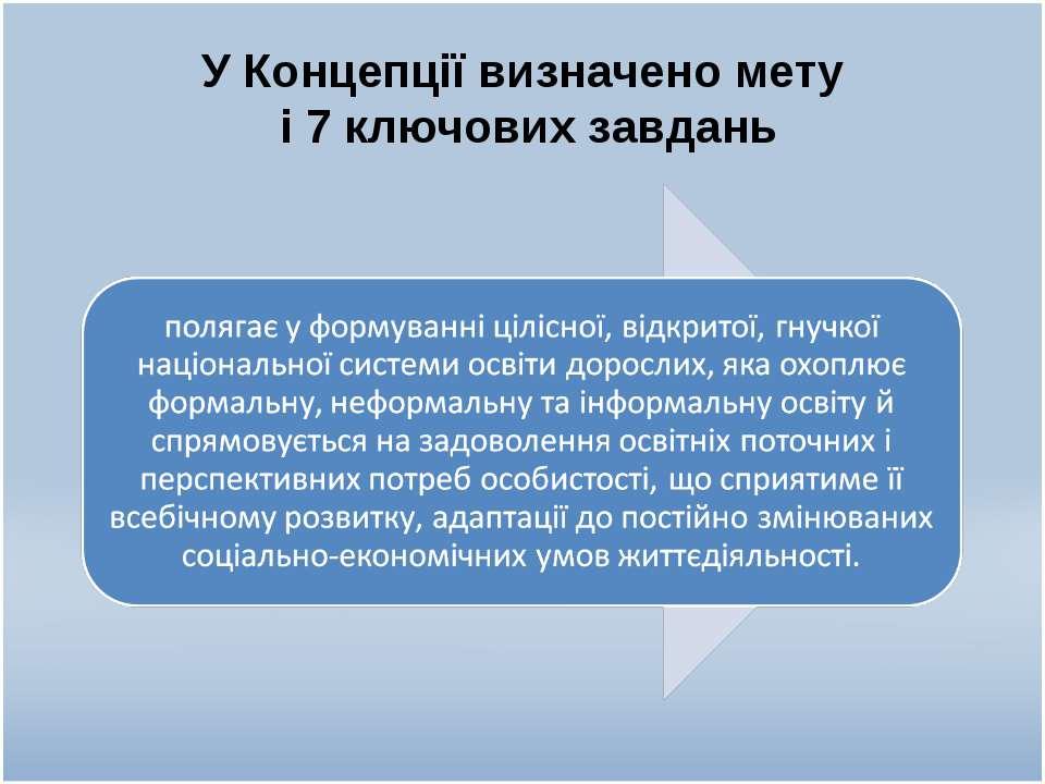 У Концепції визначено мету і 7 ключових завдань
