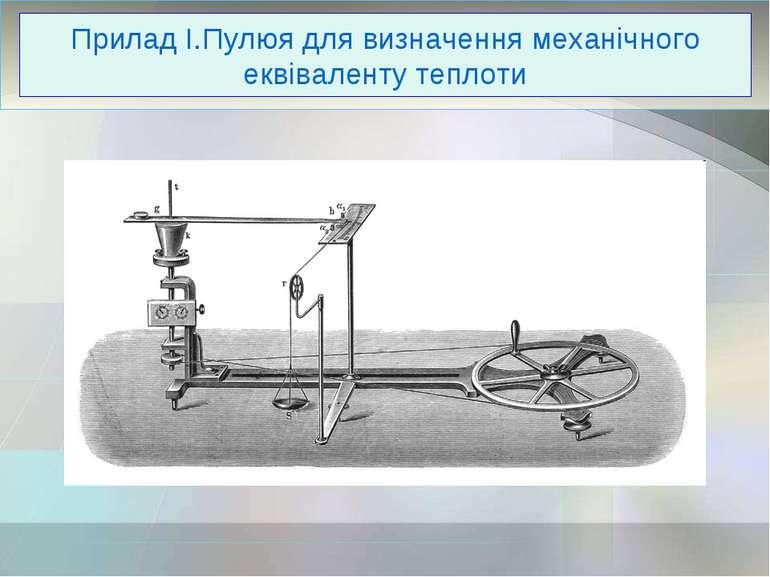 Прилад І.Пулюя для визначення механічного еквіваленту теплоти