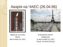 Аварія на ЧАЕС (26.04.86) Марка до 10 річниці пам'яті жертв аварії на ЧАЕС Вш...