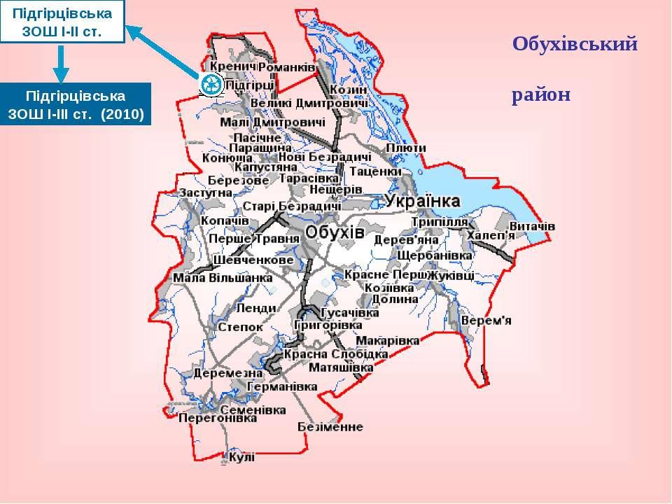 Обухівський район Підгірцівська ЗОШ І-ІІ ст. Підгірцівська ЗОШ І-ІІІ ст. (2010)
