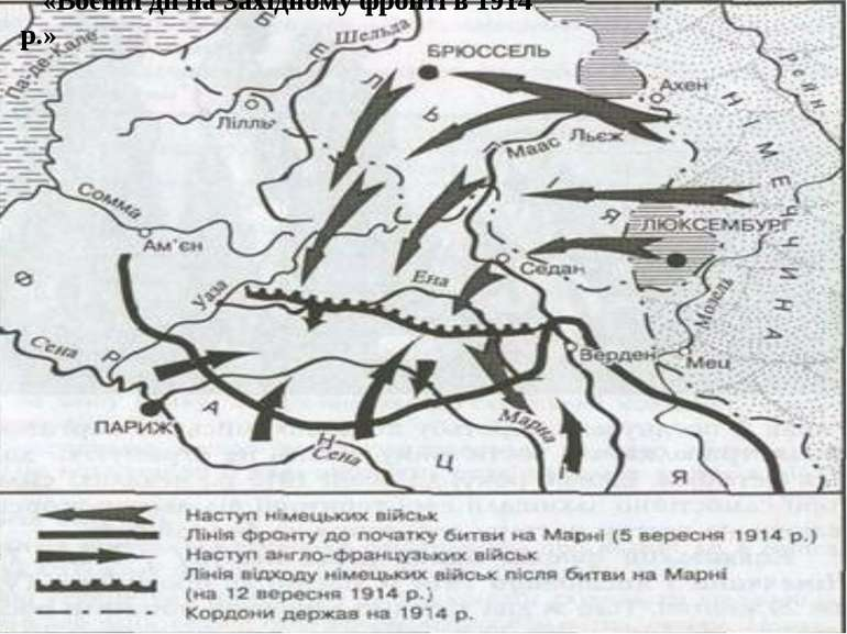 «Воєнні дії на Західному фронті в 1914 р.»