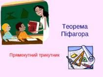 Теорема Піфагора Прямокутний трикутник