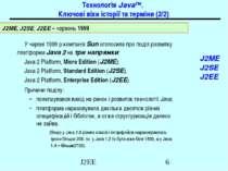 Технологія Java™. Ключові віхи історії та терміни (2/2) J2ME J2SE J2EE У черв...