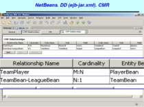 NetBeans. DD (ejb-jar.xml). CMR J2EE