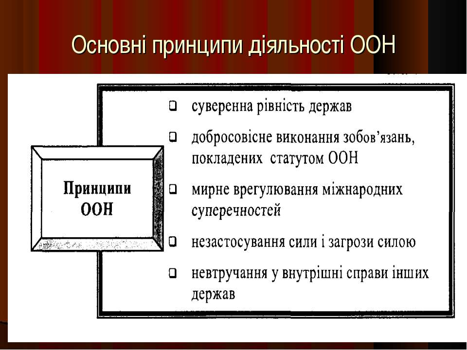Основні принципи діяльності ООН