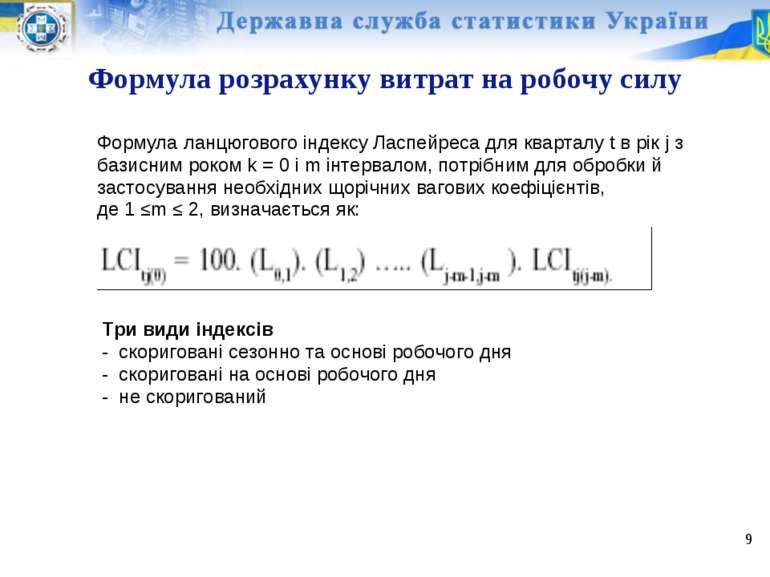 Формула розрахунку витрат на робочу силу