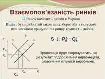 Взаємопов'язаність ринків Ринок компакт - дисків в Україні Подія: був прийнят...