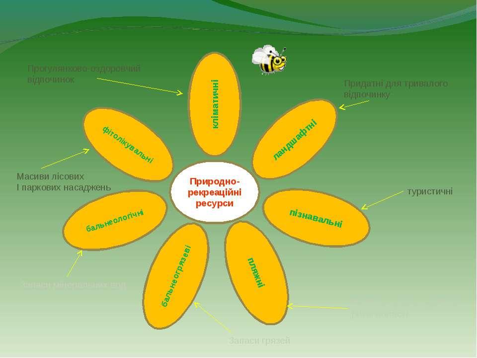 Природно-рекреаційні ресурси кліматичні ландшафтні фітолікувальні пізнавальні...