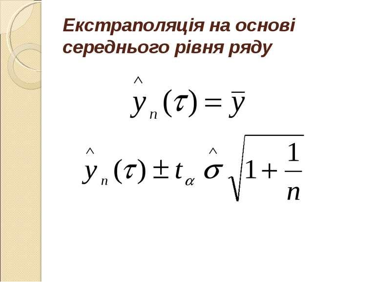 Екстраполяція на основі середнього рівня ряду