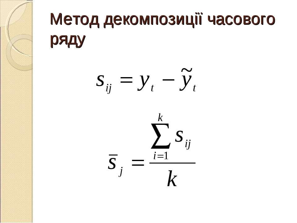Метод декомпозиції часового ряду
