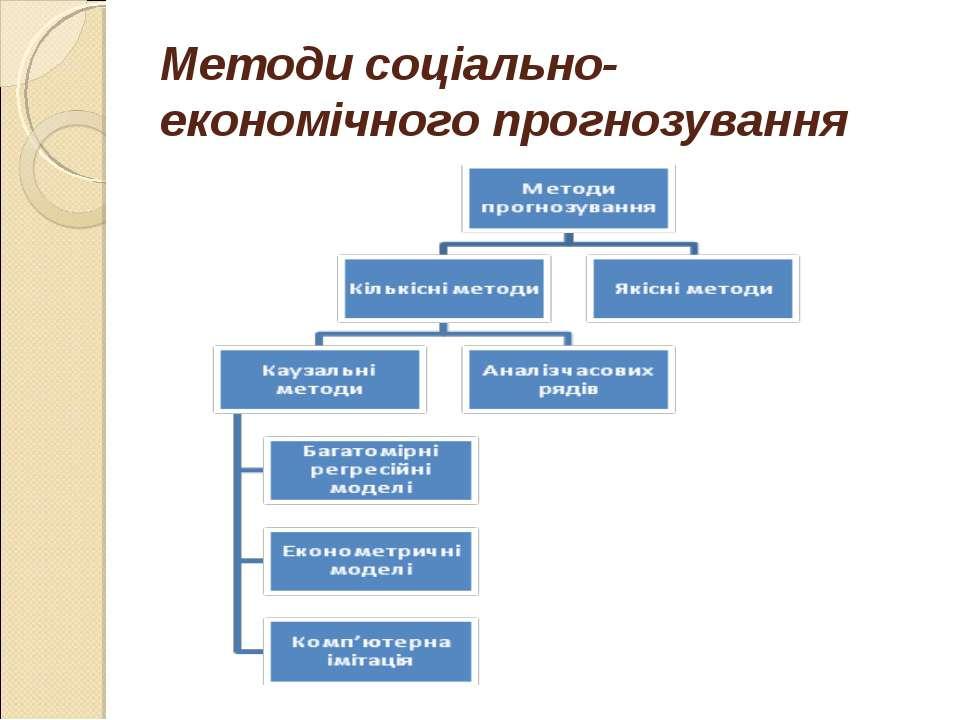 Методи соціально-економічного прогнозування