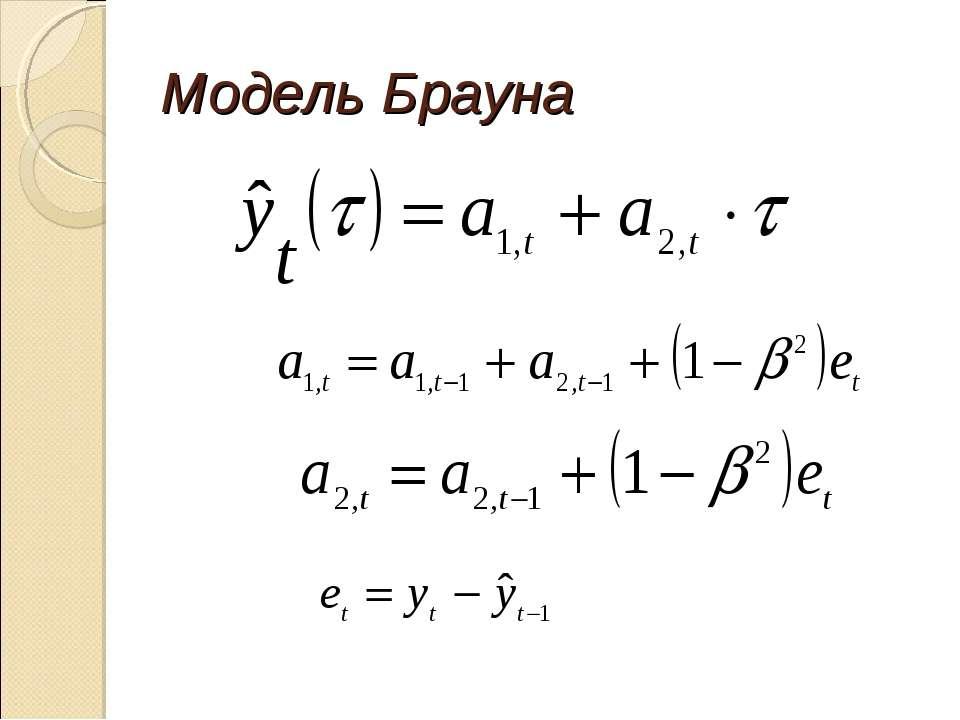Модель Брауна