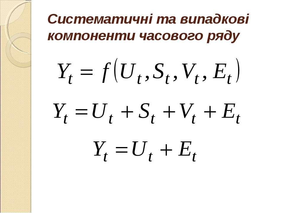 Систематичні та випадкові компоненти часового ряду