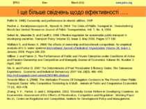 І ще більше свідчень щодо ефективності ….. Pollitt M. 1995) Ownership and per...