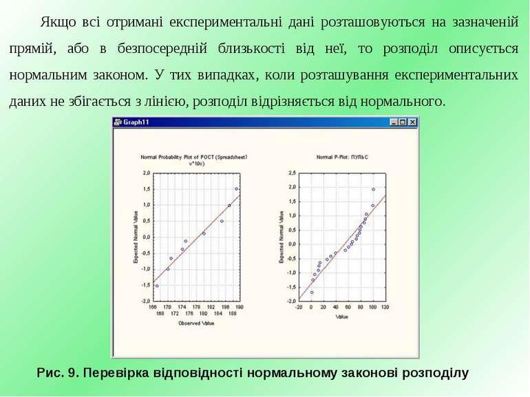 Якщо всі отримані експериментальні дані розташовуються на зазначеній прямій, ...