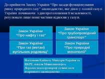 """До прийняття Закону України """"Про засади функціонування ринку природного газу""""..."""