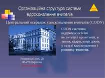 Організаційна структура системи вдосконалення вчителів Placówki Centralne Цен...