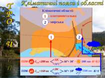 Кліматичні області: 1 2 ТПМ- рВ -Ісум=200 кк +32С +16оС ^ Аto= 16o ^ -К1