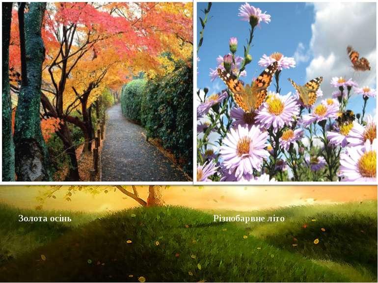 Золота осінь Різнобарвне літо