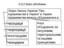 3.3.2 Види об'єднань