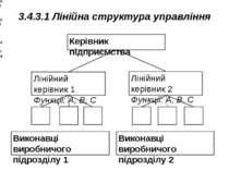 3.4.3.1 Лінійна структура управління Керівник підприємства