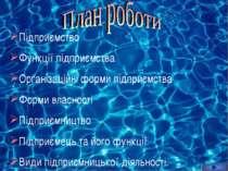 Підприємство Функції підприємства Організаційні форми підприємства Форми влас...