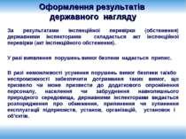 Оформлення результатів державного нагляду За результатами інспекційної переві...