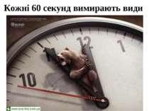Кожні 60 секунд вимирають види