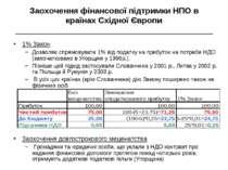 Заохочення фінансової підтримки НПО в країнах Східної Європи ________________...