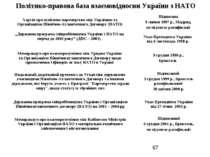 """Політико-правова база взаємовідносин України з НАТО """"Державна програма співро..."""