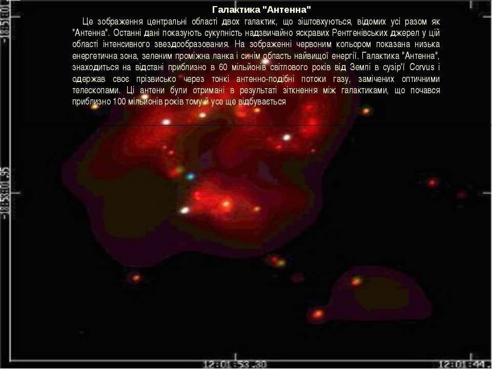 """Галактика """"Антенна"""" Це зображення центральні області двох галактик, що зіштов..."""