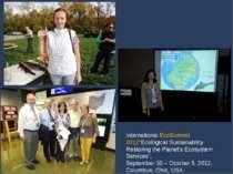 "International EcoSummit 2012""Ecological Sustainability Restoring the Planet's..."