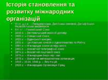 Історія становлення та розвитку міжнародних організацій VI ст. д.н.е. - Лакед...