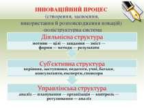 ІННОВАЦІЙНИЙ ПРОЦЕС (створення, засвоєння, використання й розповсюдження нова...