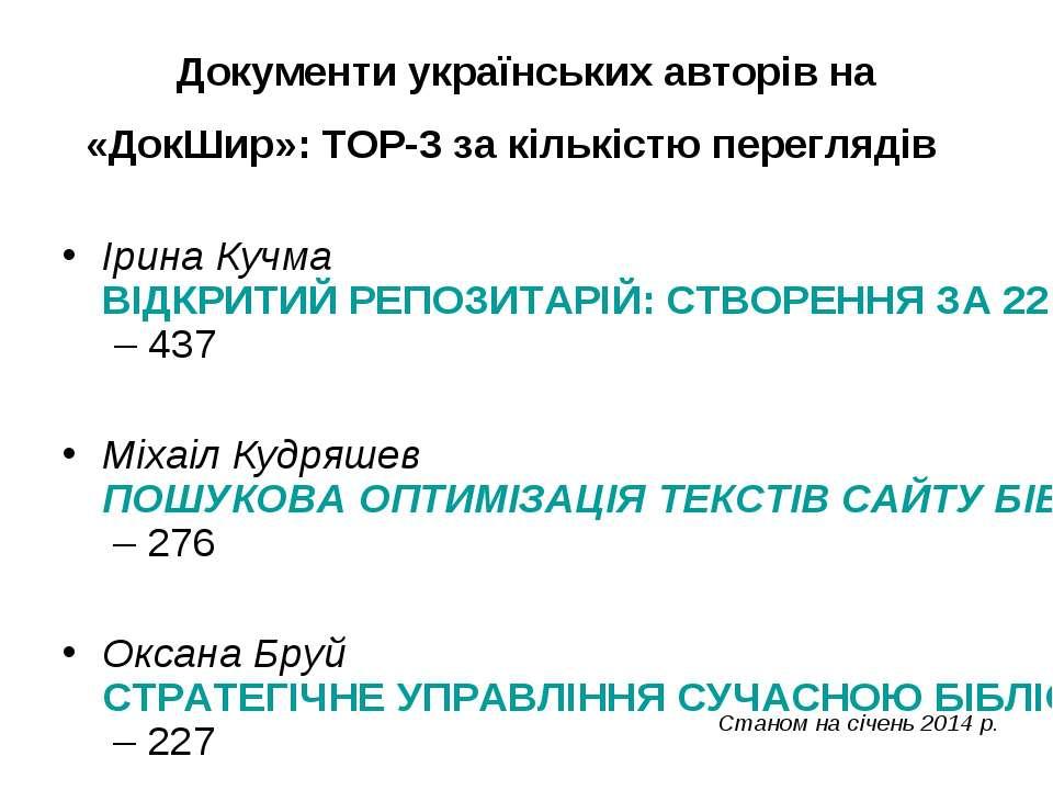 Документи українських авторів на «ДокШир»: TOP-3 за кількістю переглядів Ірин...