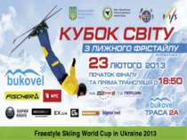 Freestyle Skiing World Cup in Ukraine 2013