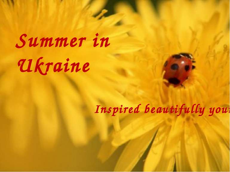 Summer in Ukraine Inspired beautifully yours