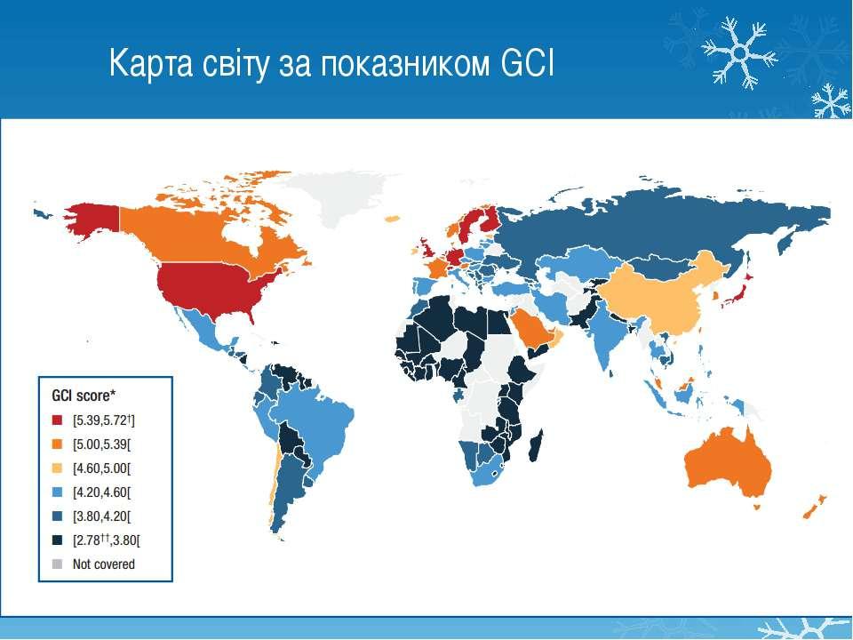 Карта світу за показником GCI