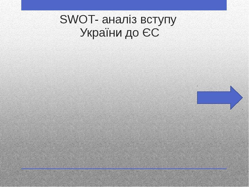 SWOT- аналіз вступу України до ЄС