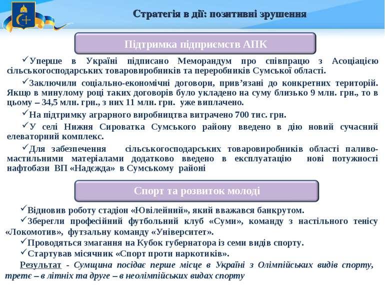 Стратегія в дії: позитивні зрушення Уперше в Україні підписано Меморандум про...