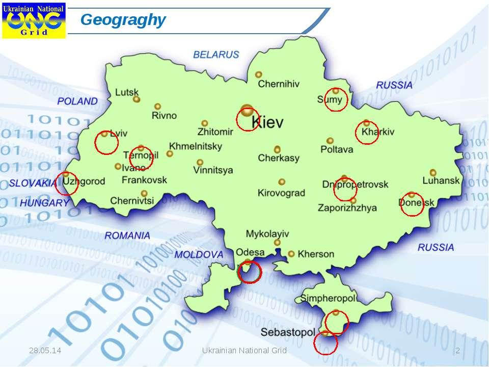 * Ukrainian National Grid * Geograghy