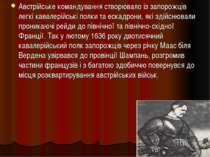 Австрійське командування створювало із запорожців легкі кавалерійські полки т...