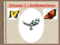 Зупинка 5 «Зооботанічна»