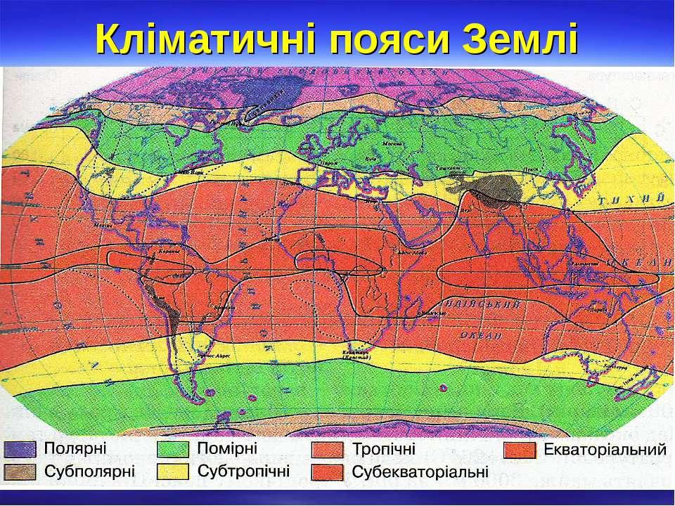 Кліматичні пояси Землі