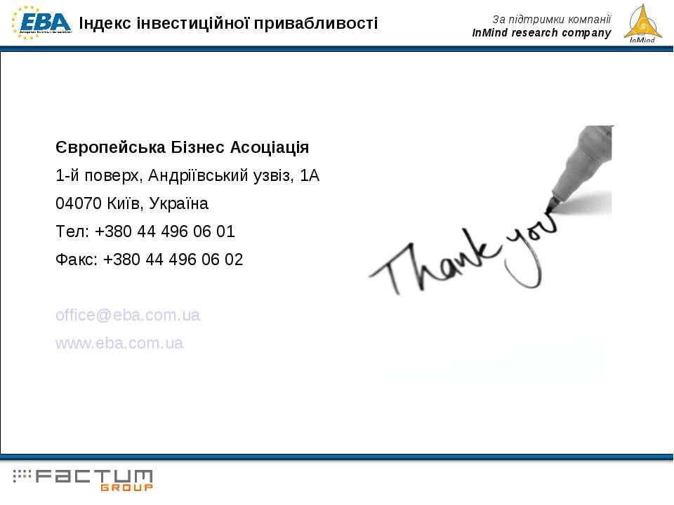 Європейська Бізнес Асоціація 1-й поверх, Андріївський узвіз, 1A 04070 Київ, У...