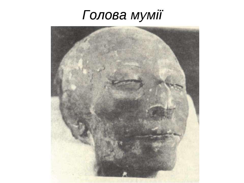 Голова мумії