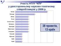 """Участь НТУУ """"КПІ"""" у двосторонньому науково-технічному співробітництві у 2009 ..."""