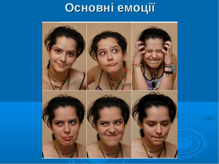 Основні емоції