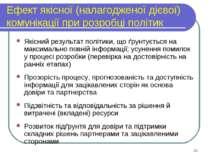 Ефект якісної (налагодженої дієвої) комунікації при розробці політик Якісний ...