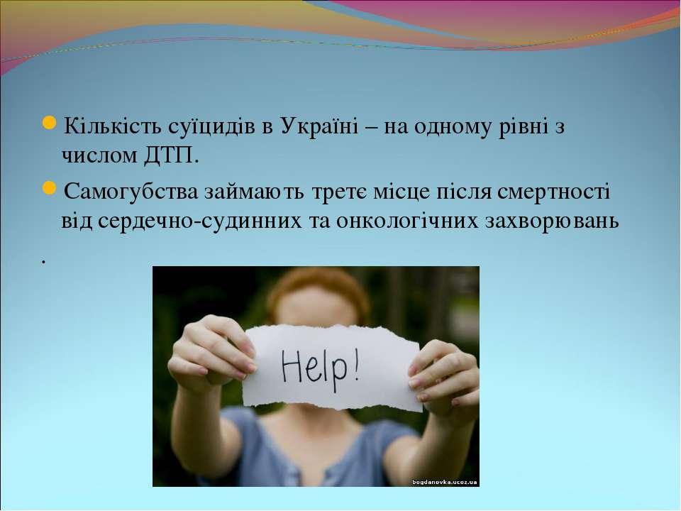 Кількість суїцидів в Україні – на одному рівні з числом ДТП. Самогубства займ...
